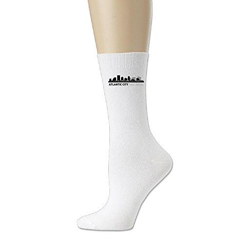 Atlantic City New Jersey Ayg Field Comfort Blend Crew Socks Espresso Windowpane Media