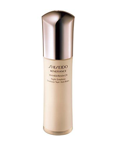 2.5 Ounce Emulsion (Shiseido Benefiance Wrinkle Resist 24 Night Emulsion for Unisex, 2.5 Ounce)