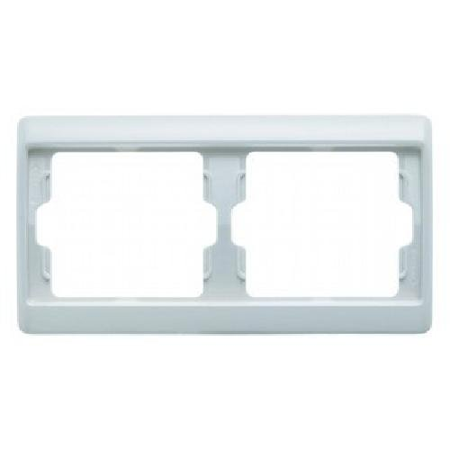 Hager arsys - Marco blanco polar 2 elementos horizontal plastico