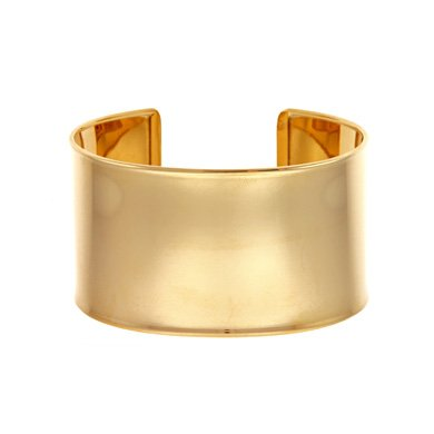 "Or jaune 14 carats en forme de menotte 37 mm-poli - 7 ""- JewelryWeb"