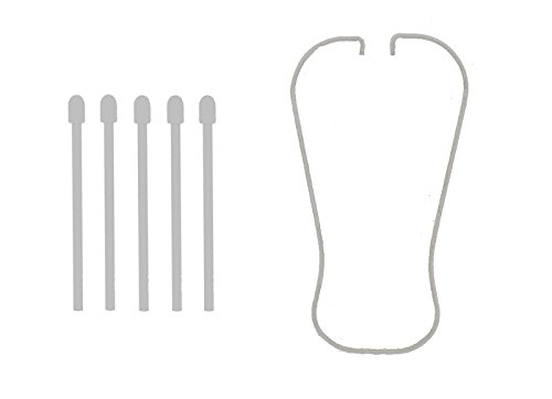 Samsung Galaxy Note 3 N900 Replacement S-Pen Stylus 5 Tip Ends & Tip Removal Tweezers Tool - White (Samsung Tips)