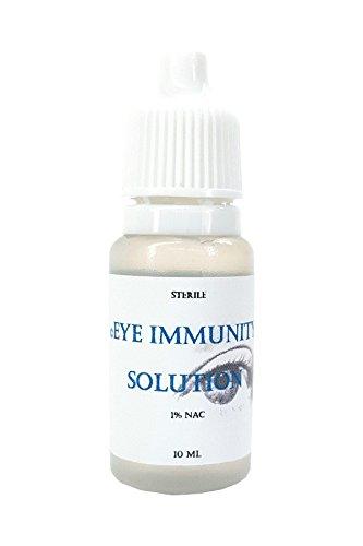 Eye Immunity Solution 1% n-Acetyl-carnosine - sterile-10 ml - Alternative Cataract and Eye Care - Lubricating - Eye Drops