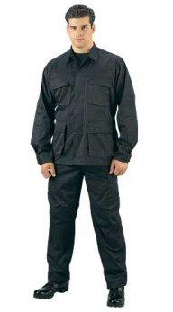 Poly Cotton Black BDU Cargo Pants (2XL/Reg) Ems Bdu Pants
