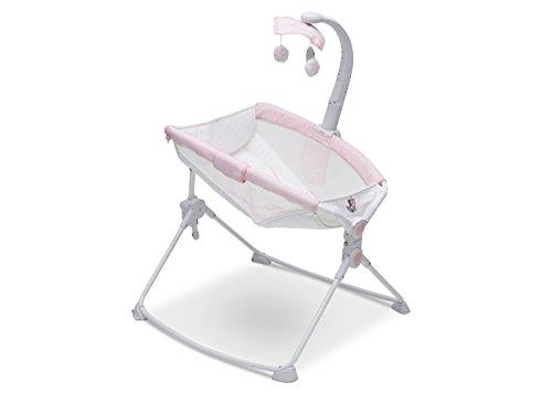 Infant Baby Mobile Shower (Delta Children Deluxe 3-in-1 Activity Rocker, Feeder and Sleeper for Newborns, Disney Minnie Mouse)