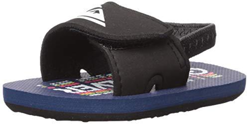 Quiksilver Boys' Molokai Layback Infant Sandal, Blue/Black, 4(20) M US