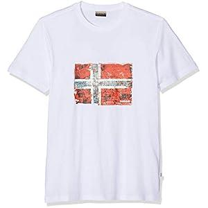 Napapijri Men's Seitem Bright White T-Shirt