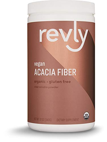 Amazon Brand – Revly Organic Acacia Fiber Powder, Supports Digestive Health*, 12 Ounce, 52 Servings, Vegan