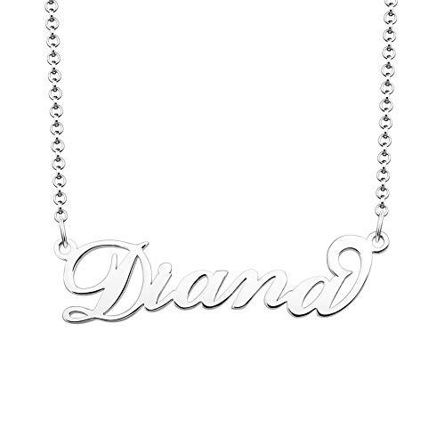 JewelryJo 925 Personalized Same Day Shipping Custom Name Necklace Diana