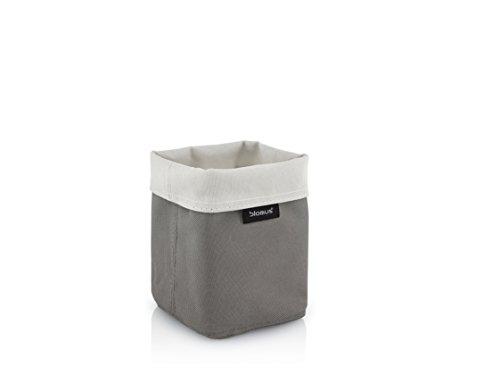 Blomus 68896 Reversible Storage Basket-Sand-Anthracite-Lg by Blomus