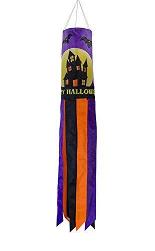 In the Breeze Fright Night 40 Inch Windsock -  Hanging Halloween Decoration - Outdoor Holiday -