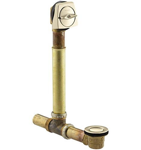 KOHLER K-7161-AF-AF Clearflo 1-1/2-Inch Adjustable Pop-Up Drain, Vibrant French Gold - French Gold Drain Finish