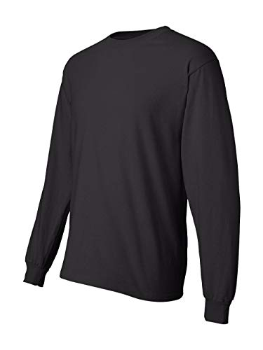 Men's 6.1 oz Hanes BEEFY-T Long-Sleeve T-Shirt, Black, XL