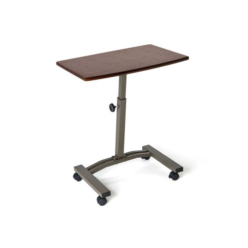 Mini Mobile Laptop Desk Cart Height Adjustable Rolling Table Dorm Room  Office