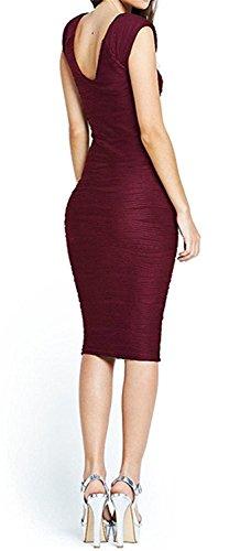 UDFSJ,JS Trendy Women's Midi Dresses Sleeveless Knee Length Party Evening Dress (Yakima Wa Stores)