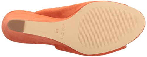 WoMen West Suede Orange Janissah Nine Slide Sandal 87nUwcqvF