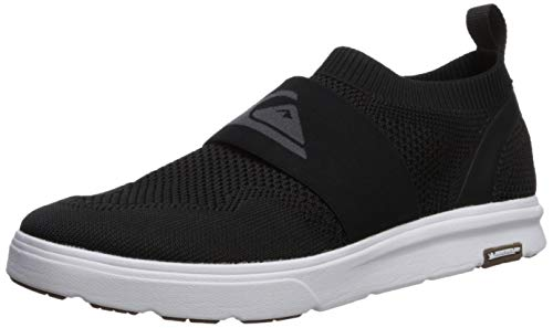 Quiksilver Men's Amphibian Plus Slip-ON Sneaker Black/Grey/White 8(41) M US