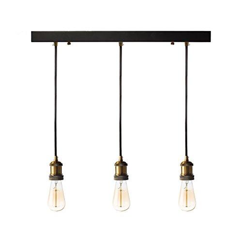 Finesse Kitchen (Finesse Decor FL-715 Triple Vintage Pendant Lamp, Black)