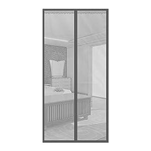 Zanzariera magnetica porta in fibra di vetro rinforzata, rete per porta patio con rete Full Frame gancio (dimensioni… 8 spesavip