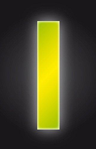 2XSelf Adhesive Wheelie Bin Numbers 17cm 1 High Visibility Yellow