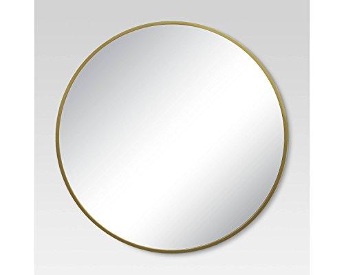 Brass Mirror Frame - Round Decorative Wall Mirror Brass 28