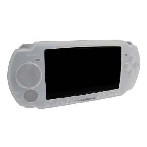 OSTENT Soft Protector Silicon Travel Carry Case Skin Cover Pouch Sleeve Compatible for Sony PSP 2000/3000 Color White (Sony Psp Slim Silicone)