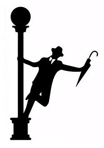 Novelty Gentleman Singing in The Rain Light Switch/Laptop/Tablet/Car Small Sticker (White)