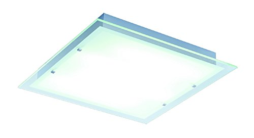 ET2 Lighting E22120-24AL Flush Mount with Clear Glass Shades, Brushed Aluminum Finish by ET2 Lighting