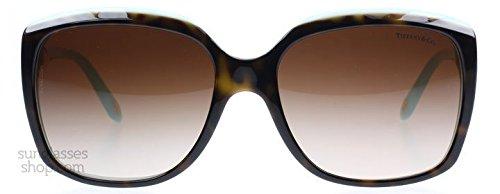 Tiffany 4076 81343B Tortoise 4076 Cats Eyes Sunglasses Lens Category 3 by Tiffany & Co.