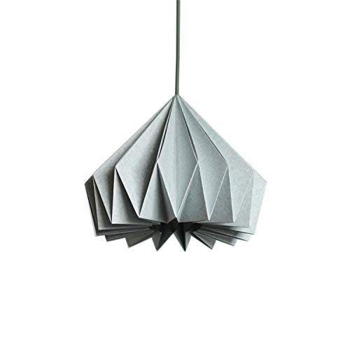 Brownfolds Light Blue Paper Origami Lamp Shade; Vanilla Bliss Dual ()