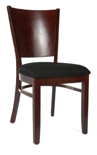 Beechwood Mountain BSD-86S-DM Solid Beech Wood Side Chairs in Dark Mahogany for Kitchen and dining, set of 2 - Manufactured in Europe, made from Solid European Beech wood No tools necessary, all chairs come fully assembled Seat dimensions are 18 inches x 20 inches, height from floor to seat is 18 inches - kitchen-dining-room-furniture, kitchen-dining-room, kitchen-dining-room-chairs - 31KeRVJRlQL -