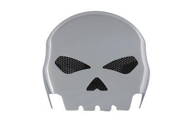 V-Twin 42-5041 Skull Horn Cover Chrome