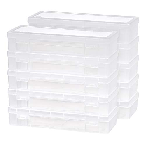 IRIS 585172 Modular Supply Case, PVC-Free ,Large,10 Pack, Clear from IRIS USA, Inc.