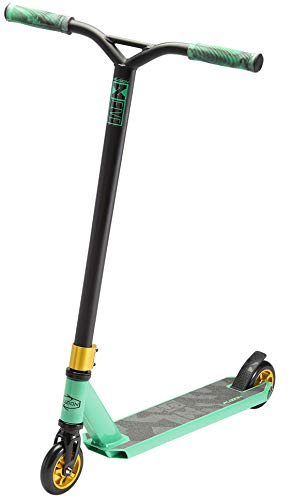 Fuzion X-5 Pro Scooters - Trick Scooter - Beginner Stunt Scooters for Kids 8 Years and Up - Quality Freestyle Kick Scooter for Boys and Girls (Teal/Gold) (Best Trick Scooter Brands)