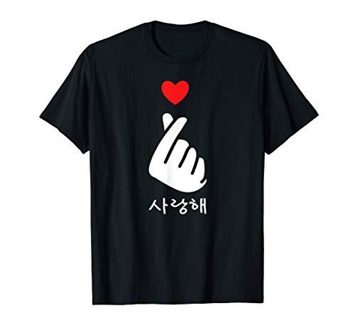 Saranghae K-Pop Finger Heart Korean Love T-Shirt