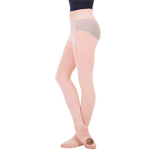 4019b957f8809 BodyWrappers Women's Wide Smooth Waist Convertible Tights (Ballet Pink,  Large/X-Large