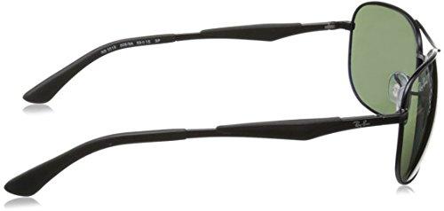 6e1b28ee7db Ray-Ban Polarized RB3519 Sunglasses - Matte Black Frame Green Lens