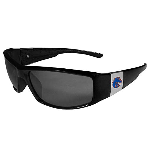 Siskiyou NCAA Boise State Broncos Unisex Sportschrome Wrap Sunglasses, Black, One Size