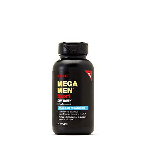 GNC Mega Men Sport One Daily Mens Multivitamin, 60 CAPLETS (Vitamins Workout)