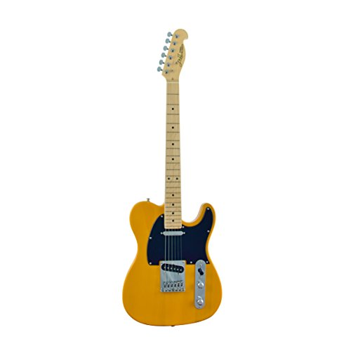 J&D TL Electric Guitar - Maple Fingerboard & Neck, Butterscotch Blonde Finish by CNZ (Blonde Finish)