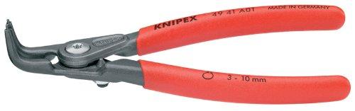 KNIPEX 49 41 A01 Precision External 90-Degree Angled Circlip Snap-Ring Pliers - 90 Degree Snap