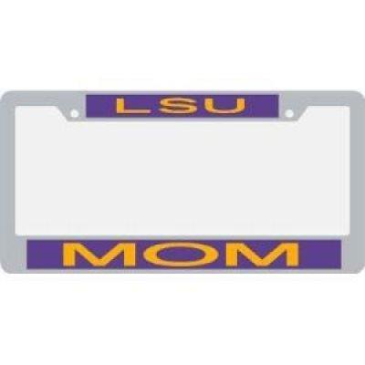 Stockdale Lsu Tigers Metal Mom Inlaid Acrylic License Plate Frame