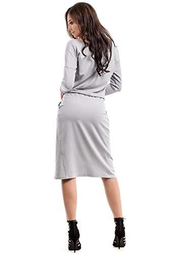 Wickeleffekt mit mit Kleid Clea Kleid Grau Clea XwdfSq
