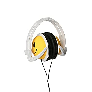 Original, AUTHENTIC HAPPY CANZ, Smiley Face, Foldable, Fully Adjustable Over-Ear Padded Headphones by Roxant.