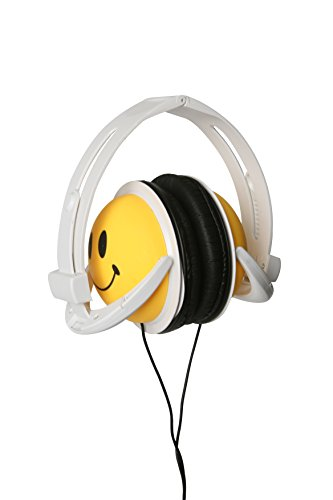 Original AUTHENTIC HAPPY CANZ Smiley Face Emoji Foldable Fully Adjustable Over-Ear Padded Headphones by Roxant by Roxant (Image #2)