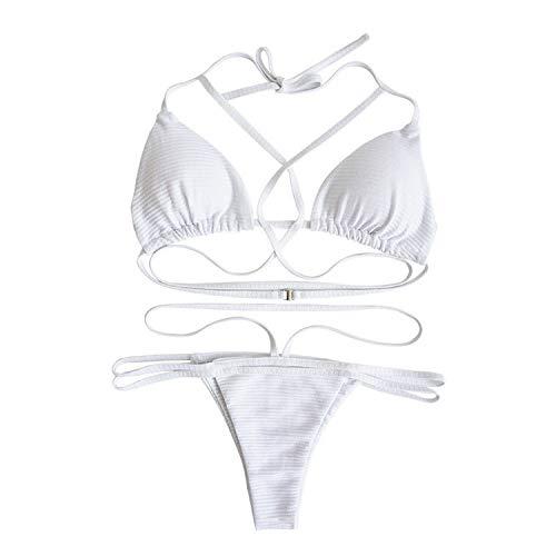 2019 Women Push-up Bikini Set New Brazilian Biquini Split Two Piece Bandage Triangle Swimsuit,As Photo Show2,L