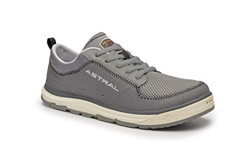 (Astral Men's Brewer 2.0 Everyday Minimalist Outdoor Sneakers, Grippy and Quick Drying, Made for Water Sports, Travel, and Rock Scrambling, Storm Gray, M13)