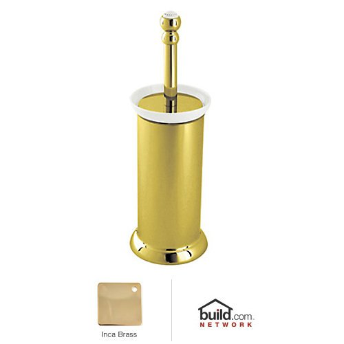 Rohl U.6937IB U.6937 Perrin And Rowe Floor Standing Toilet Brush Holder, Inca Brass
