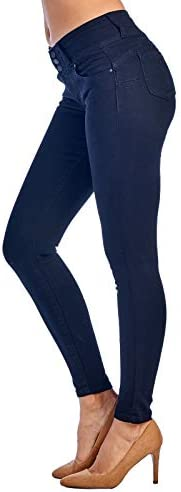 Love Moda Women's Butt Lift Mid Rise Denim Skinny Jeans with Comfort Stretch    This women's jean accentuates the back curves with its Amazing technical darts that are strategically place at the back yoke seam.Also, this jean is right on trend with its mid-rise zipper fly detail that has 3 riveted buttons which adds even more chic styling to this fantasy jean.You know you can step it up a knotch looking GREAT, this is definetly a must have of the season, don't be caught with out this one in your closet!!! ❤️ ❤️❤️56% Cotton,23% Polyester, 19% Rayon,2% SpandexMachine-wash cold inside-out on gentle cycle with like colors, line dry. Imported