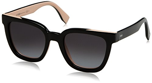 Sunglasses Fendi 121/S 0MG1 Black Pink / HD gray gradient - Fendi Sunglasses Black
