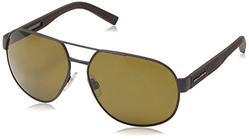 Dolce & Gabbana Mens Sunglasses (DG2147) Brown/Brown Metal - Polarized - - Dolce Gabbana Spectacles